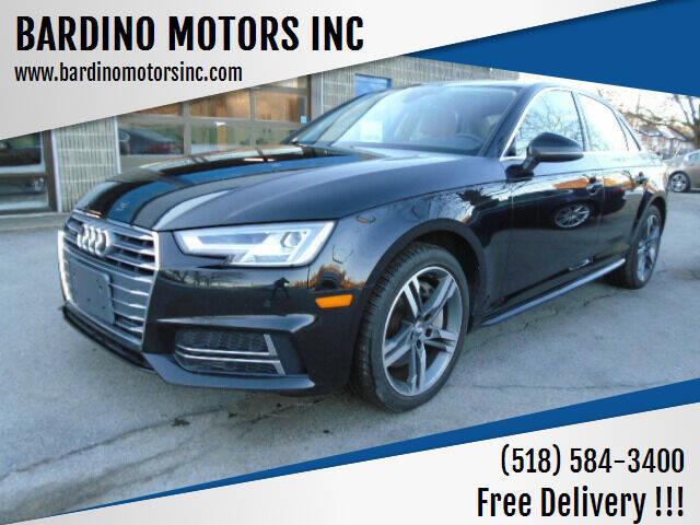 2018 Audi A4 for sale at BARDINO MOTORS INC in Saratoga Springs NY