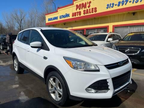 2015 Ford Escape for sale at Popas Auto Sales in Detroit MI