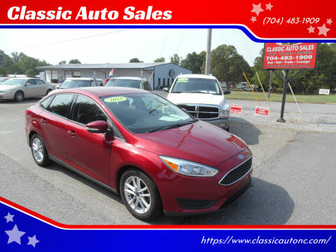 2015 Ford Focus for sale at Classic Auto Sales in Maiden NC