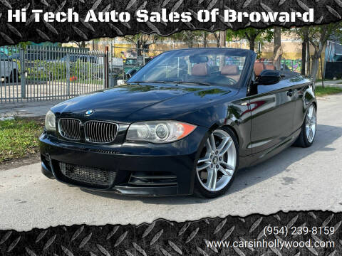 2010 BMW 1 Series for sale at Hi Tech Auto Sales Of Broward in Hollywood FL