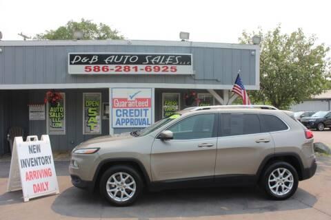 2017 Jeep Cherokee for sale at D & B Auto Sales LLC in Washington MI