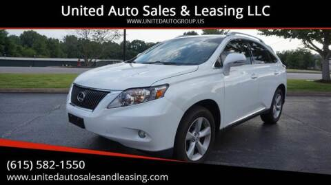 2010 Lexus RX 350 for sale at United Auto Sales & Leasing LLC in La Vergne TN