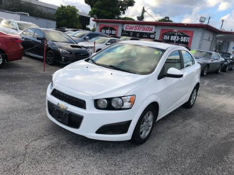 2014 Chevrolet Sonic for sale at CARSTRADA in Hollywood FL