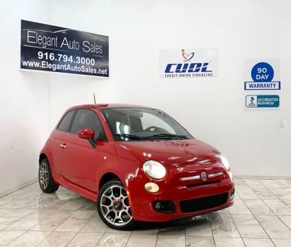 2013 FIAT 500 for sale at Elegant Auto Sales in Rancho Cordova CA