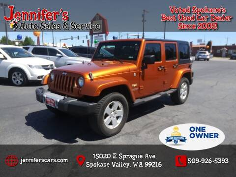 2011 Jeep Wrangler Unlimited for sale at Jennifer's Auto Sales in Spokane Valley WA