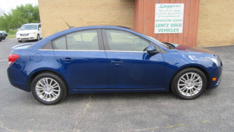2013 Chevrolet Cruze for sale at LENTZ USED VEHICLES INC in Waldo WI