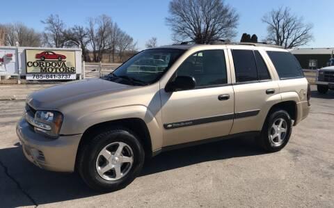 2004 Chevrolet TrailBlazer for sale at Cordova Motors in Lawrence KS