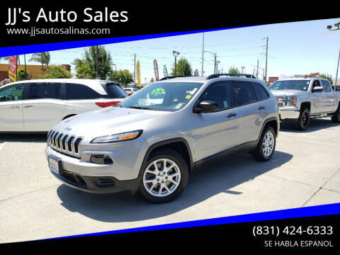 2016 Jeep Cherokee for sale at JJ's Auto Sales in Salinas CA