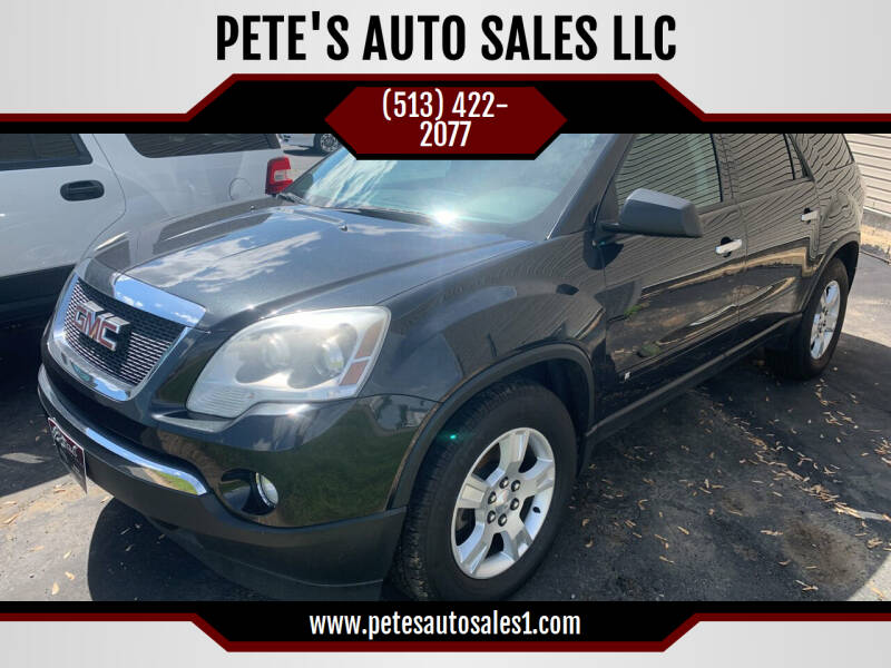 2010 GMC Acadia for sale at PETE'S AUTO SALES LLC - Dayton in Dayton OH