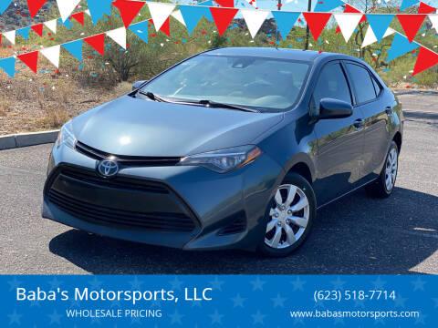 2017 Toyota Corolla for sale at Baba's Motorsports, LLC in Phoenix AZ