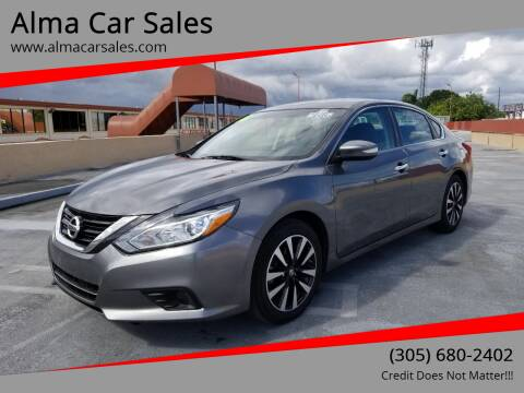 2018 Nissan Altima for sale at Alma Car Sales in Miami FL