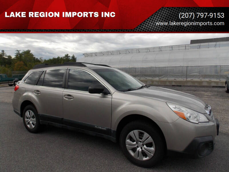 2014 Subaru Outback for sale at LAKE REGION IMPORTS INC in Westbrook ME
