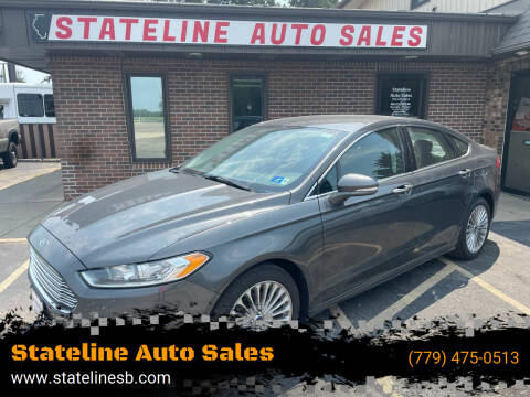 2015 Ford Fusion for sale at Stateline Auto Sales in South Beloit IL