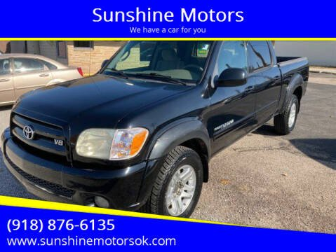 2005 Toyota Tundra for sale at Sunshine Motors in Bartlesville OK