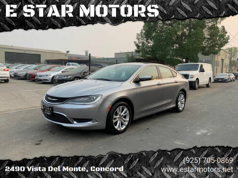2016 Chrysler 200 for sale at E STAR MOTORS in Concord CA