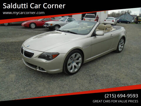2006 BMW 6 Series for sale at Saldutti Car Corner in Gilbertsville PA