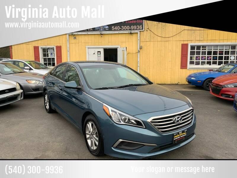 2017 Hyundai Sonata for sale at Virginia Auto Mall in Woodford VA