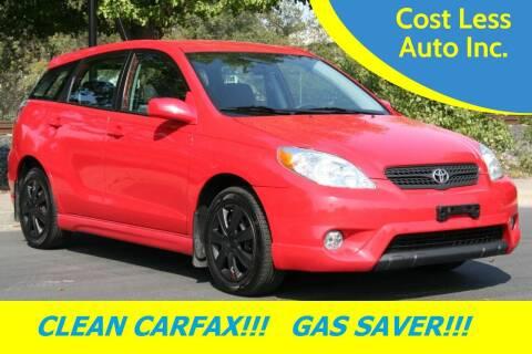 2008 Toyota Matrix for sale at Cost Less Auto Inc. in Rocklin CA
