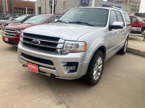 2017 Ford Expedition EL for sale at Jacksons Car Corner Inc in Hastings NE