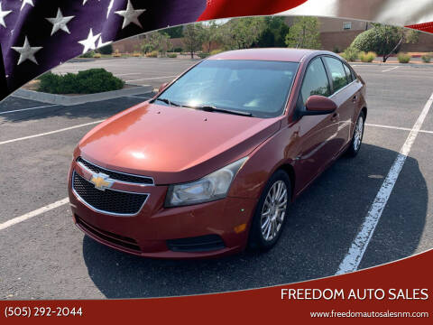 2012 Chevrolet Cruze for sale at Freedom Auto Sales in Albuquerque NM
