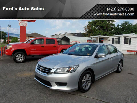 2013 Honda Accord for sale at Ford's Auto Sales in Kingsport TN