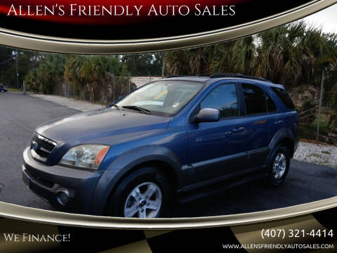 2003 Kia Sorento for sale at Allen's Friendly Auto Sales in Sanford FL