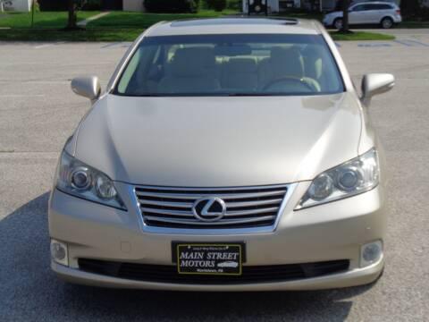 2012 Lexus ES 350 for sale at MAIN STREET MOTORS in Norristown PA