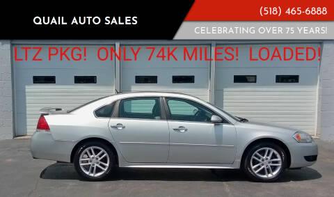 2013 Chevrolet Impala for sale at Quail Auto Sales in Albany NY