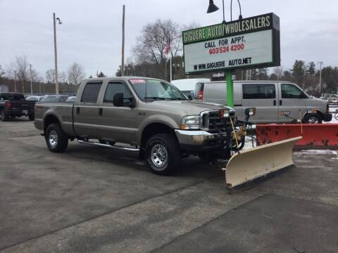2003 Ford F-250 Super Duty for sale at Giguere Auto Wholesalers in Tilton NH