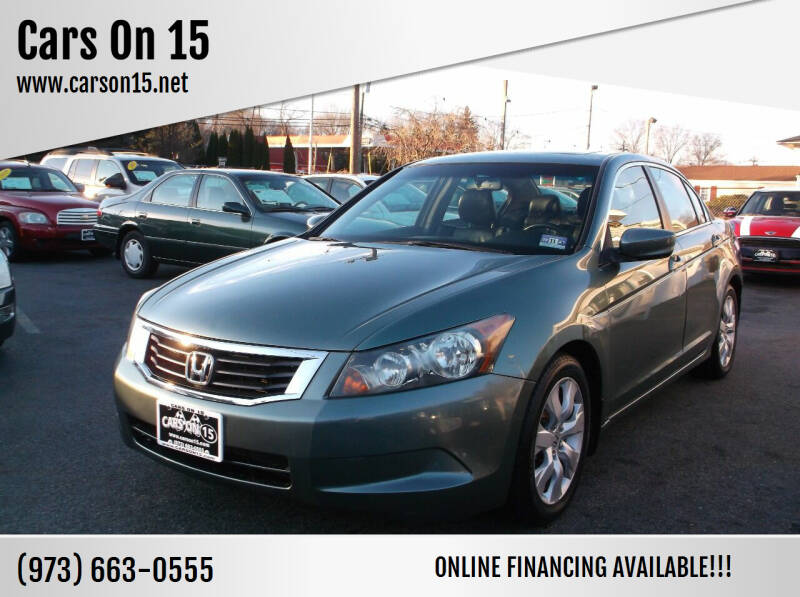 2009 Honda Accord for sale at Cars On 15 in Lake Hopatcong NJ