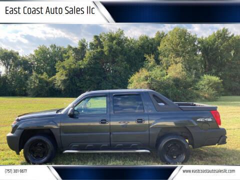 2005 Chevrolet Avalanche for sale at East Coast Auto Sales llc in Virginia Beach VA
