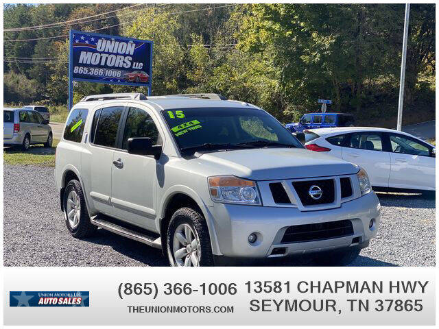 2015 Nissan Armada for sale at Union Motors in Seymour TN