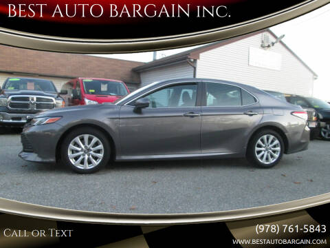 2018 Toyota Camry for sale at BEST AUTO BARGAIN inc. in Lowell MA