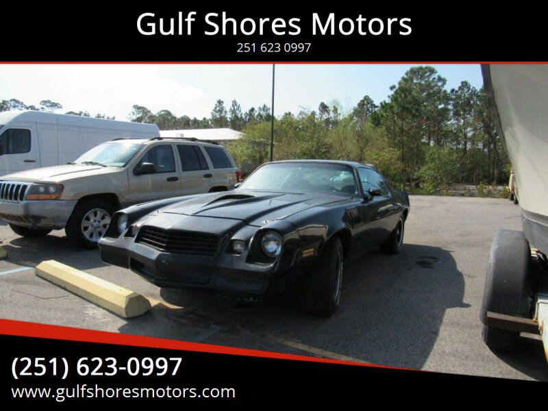 1978 Chevrolet Camaro for sale at Gulf Shores Motors in Gulf Shores AL