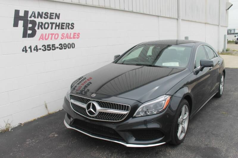 2018 Mercedes-Benz CLS for sale at HANSEN BROTHERS AUTO SALES in Milwaukee WI