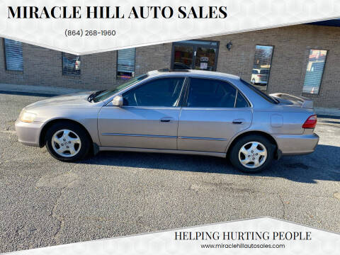 2000 Honda Accord for sale at MIRACLE HILL AUTO SALES in Greenville SC
