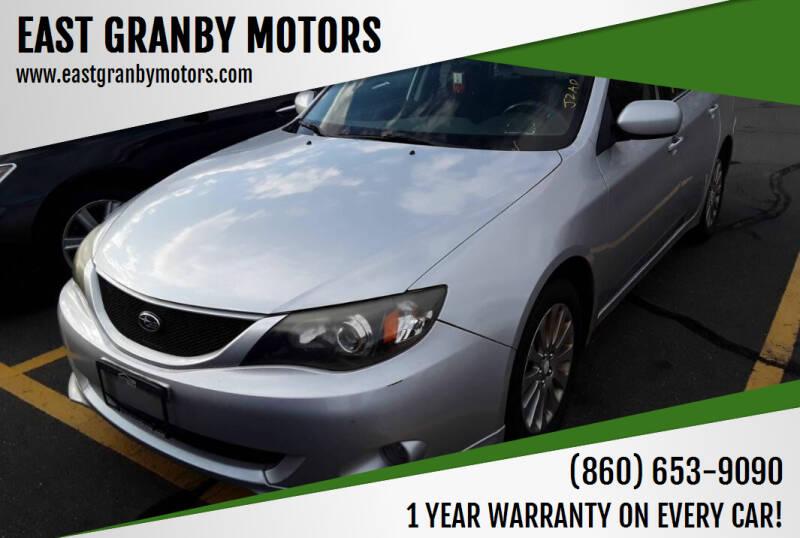 2008 Subaru Impreza for sale at EAST GRANBY MOTORS in East Granby CT