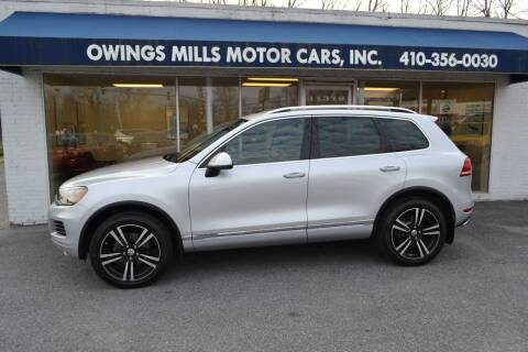 2012 Volkswagen Touareg for sale at Owings Mills Motor Cars in Owings Mills MD