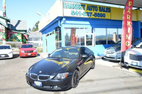 2007 BMW 6 Series for sale at Earnest Auto Sales in Roseburg OR