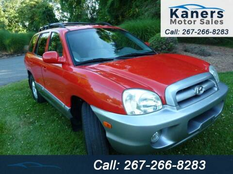 2005 Hyundai Santa Fe for sale at Kaners Motor Sales in Huntingdon Valley PA