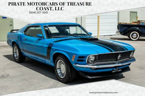1970 Ford Mustang Boss 302 for sale at Pirate Motorcars Of Treasure Coast, LLC in Stuart FL