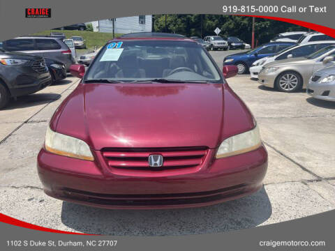 2001 Honda Accord for sale at CRAIGE MOTOR CO in Durham NC