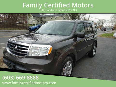 2013 Honda Pilot for sale at Family Certified Motors in Manchester NH