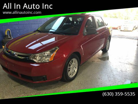 2010 Ford Focus for sale at All In Auto Inc in Addison IL
