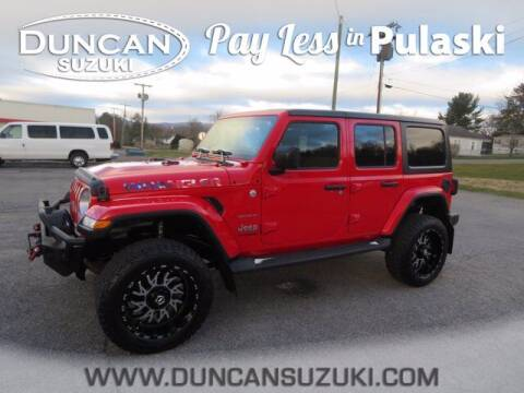 2018 Jeep Wrangler Unlimited for sale at DUNCAN SUZUKI in Pulaski VA
