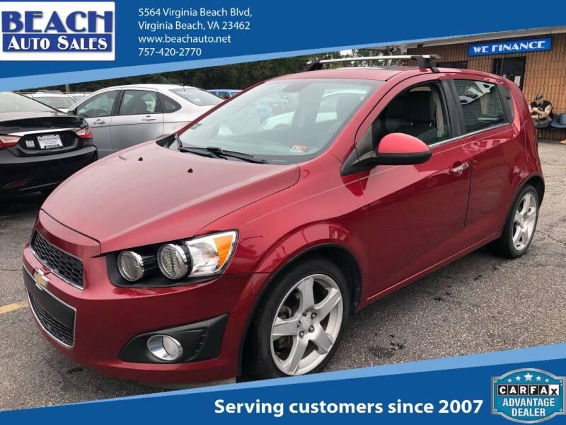 2013 Chevrolet Sonic for sale at Beach Auto Sales in Virginia Beach VA