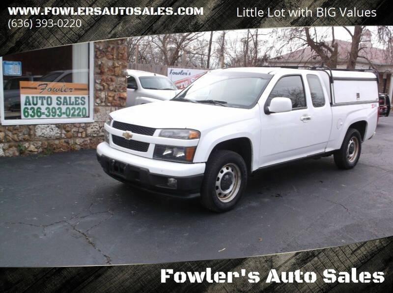 2012 Chevrolet Colorado for sale at Fowler's Auto Sales in Pacific MO