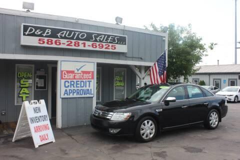 2008 Ford Taurus for sale at D & B Auto Sales LLC in Washington Township MI