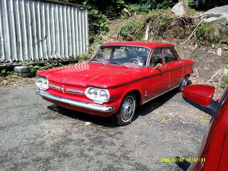 1962 Chevrolet Corvair for sale at Jack Mansur's Auto LLC in Pelham NH