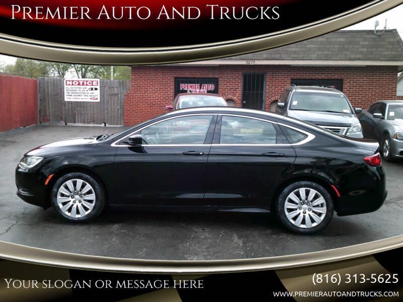 2016 Chrysler 200 for sale at Premier Auto And Trucks in Independence MO